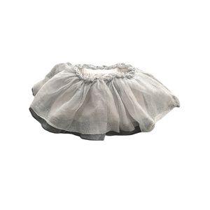Gymboree Baby Girl Gray Sparkly tutu Skirt 6-12mos